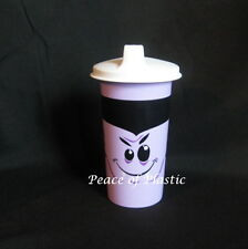 Tupperware New Purple Big Bell Tumbler Sipper Seals Sippy Cup Halloween Dracula