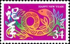 2001 34c Year of the Snake, Happy New Year! Scott 3500 Mint F/VF NH