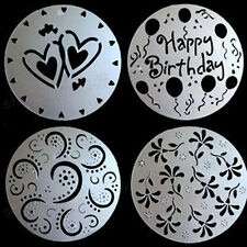 "4 pcs fondant cake top decor plastic icing sugar frost decor mould for 8"" cake"