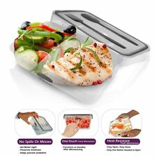Lunch Bento Box Food Storage Plastic Container Cutlery Set with 2 Compartments