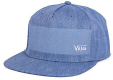 Vans Off The Wall Men's Edenton Snapback Hat Cap - Bleach Indigo