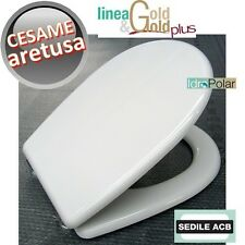NUOVO SEDILE ASSE WC ARETUSA CESAME BIANCO ACB ERCOS GOLD WATER MADE IN ITALY
