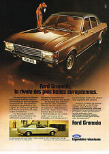 PUBLICITE ADVERTISING 094  1973  FORD GRANADA  COUPE