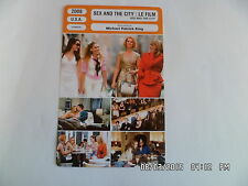 CARTE FICHE CINEMA 2008 SEX AND THE CITY LE FILM Sarah Jessica parker