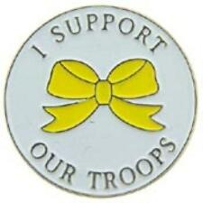 I SUPPORT OUR TROOPS YELLOW RIBBON LAPEL PIN