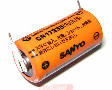 One New SANYO CR17335 3V PLC Battery  W/tabs to Repair Saab 17*33.5mm +1P-1P US