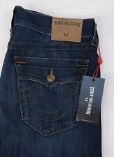 Men's True Religion Jeans RICKY Relaxed Straight Leg Size 34 NEW w Flap