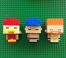 Lego Custom Built WWE Figures Hulk Hogan John Cena Sheamus Lot Of 3 Wrestlers