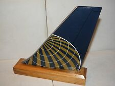 UNITED AIRLINE WOOD DESK MODEL AIRPLANE TAIL UAL CONTINENTAL PILOT FATHERS DAY !
