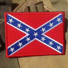The Southern Alliance Civil War MORALE TACTICAL EMBROIDERED VELCRO PATCH BADGE