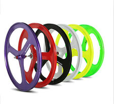 NEW 700c Tri Spoke Fixie Fixed Gear Single Speed Bike Mag Front Wheel Rim 1.9KG