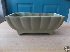 Vintage Sage Green 405-USA Marked Art Pottery Rectangular Planter