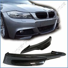 For E90 E91 LCI BMW 09-11 325i 335i M-Tech Front Bumper Pair Splitter Lower Wing