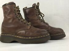 DOC MARTENS AIR WAIR BROWN 8 EYELET LEATHER BOOTS WOMENS 7? ENGLAND