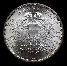 3 Mark  Lübeck  Stadtwappen  1912   Jg 82 ** Kabinettstück ** HL 1