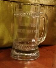 Early 1900s RICHARDSON ROOT BEER RICH CLEAR GLASS MUG