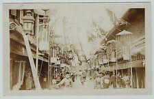 RARE - 2 Real Photos WWI - HONG KONG China Street Scenes - RPPC 1914