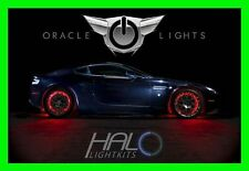 RED LED Wheel Lights Rim Lights Rings by ORACLE (Set of 4) for PONTIAC MODELS 2
