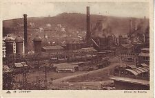 France Longwy - Usines de Senelle Metallurgy Plant old unused sepia postcard