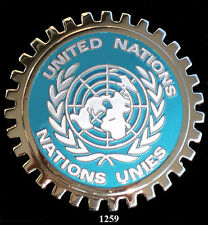 CAR GRILLE EMBLEM BADGES - UNITED NATIONS