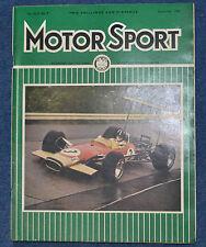 Motor Sport September 1968 Reliant Scimitar, BMW2002, Oulton Park Gold Cup