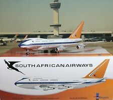 "1:200 Inflight SAA SOUTH AFRICAN AIRWAYS Boeing 747SP ""Polished"" ZS-SPB RARE!"