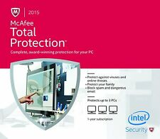McAfee Total Protection 3PCs, 1Year - LATEST eCARD DOWNLOAD VERSION - NO DVD