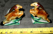 *RARE* VINTAGE~L. BATLIN & SONS INC.~LEAPING GAZELLE~SET SALT & PEPPER SHAKERS