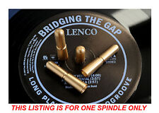 Lenco L75, GL75 Turntable Platter Stacking Spindle Adapter. Brass Version.