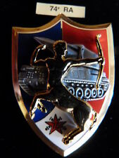 INSIGNE MILITAIRE Pucelle Armée Arthus Bertrand 74° RA ARTILLERIE