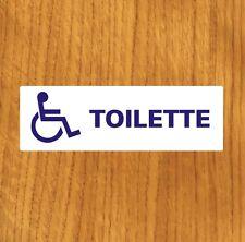 """TARGHETTA ADESIVA """"BAGNO DISABILE"""" TOILETTE, WC, SEGNALETICA INFO, STICKER, BAR"""