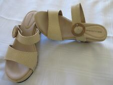 GIBI COLLECTION WOMEN'S SHOES, SIZE 5-5.5 (36) IVORY BEIGE, WEDGE
