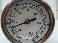 "3"" BIMETAL THERMOMETER BACK MOUNT 12"" STEM 1/2"" NPT 50 Degrees F~300 Degrees F"