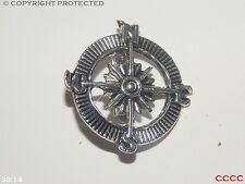 steampunk badge brooch pirate compass silver Assassin's creed black sails LARP