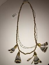 Anthropologie Serefina Dancing Feathers Necklace