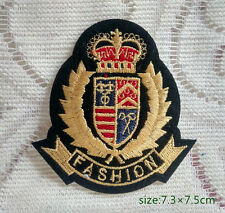Emblem Precious Crown Iron On Sew Patch Embroidered Applique Badge fashion 1pcs