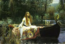 John William Waterhouse Lady in a Boat on a Lake Laminated Poster #301