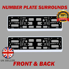 2x Number Plate Surrounds ABS Holder Silver for Toyota Prius