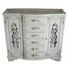 FRENCH STYLE HAND CARVED SIDEBOARD - ANTIQUE IVORY - FURNITURE