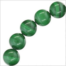"20 Natural Malachite Round Beads 10mm 8"" #73084"