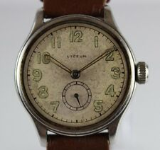 Vintage Lyceum Military Style Bumper Automatic 30.40mm Stainless Watch LOT#0405