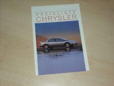 51340) Chrysler Vision Viper Neon Preise & Extras Prospekt 10/1994