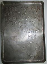 Antique Py-O-My Pastry Mix promotional give away Advertising Sheet Pan Decorator