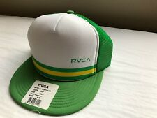 NWT RVCA BARLOW TRUCKER HAT GREEN CAP TRENDY SURF SKATE MESH LIGHT