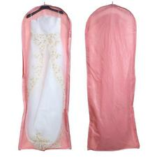 Wedding Evening Dress Gown Garment Storage Cover Bag Protector Zipper Pink