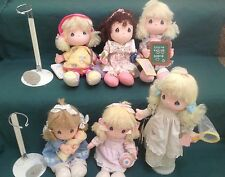 SUPER CLEAN Lot (6) Precious Moments 1986 Vintage Baby Dolls by Applause Music