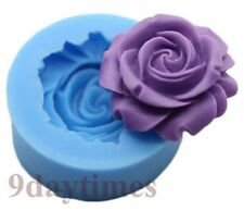 Rose Flower Flexible Silicone Mold For Polymer Clay Cake Decorating 30mm A436