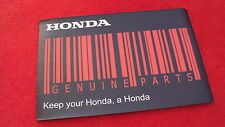 Genuine honda merchandise big compteur ou tapis de souris honda barcode genuine parts.