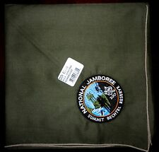 2013 National Scout Jamboree Rare GREEN Neckerchief - Summit Bechtel Reserve