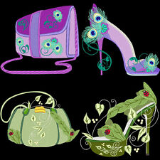 FANTASY SHOES & PURSES - 40 MACHINE EMBROIDERY DESIGNS (AZEB)